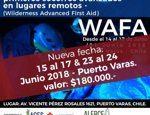 15 al 17 & 23 al 24 Junio – Curso WAFA
